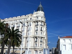 The Carlton, one of the grandest of the hotels along the waterfront in Cannes, is now an Inter-Continental.