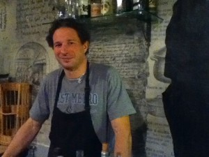 Giorgio, the co-proprieter of Chat Noir Chat Blanc restaurant at the bottom of our building.