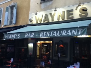 Wayne's World, home of the English language, Bloody Marys and NFL football in Nice.