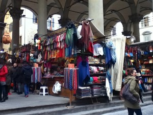 This is the smaller and more expensive of the leather markets. Those ties in the foreground are 5 euros each.