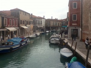 In Murano, both sides of the main canal are lined with glass showrooms and factories.