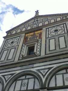 San Miniato's facade is the original, early 1,000 years old.